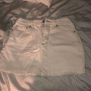 UO BDG white jean denim size small skirt